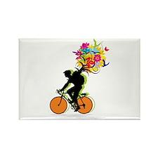biker Rectangle Magnet (10 pack)