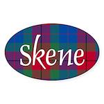 Tartan - Skene Sticker (Oval 10 pk)