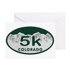 5K Colo Oval Greeting Card