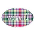 Tartan - Waggrall Sticker (Oval 10 pk)