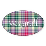 Tartan - Waggrall Sticker (Oval 50 pk)