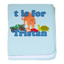 T is for Tristan baby blanket