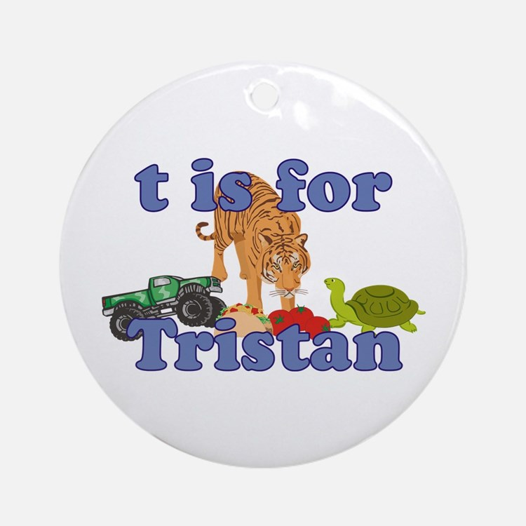T is for Tristan Ornament (Round)