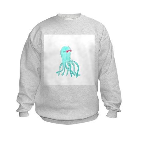 Hipster Octopus Kids Sweatshirt