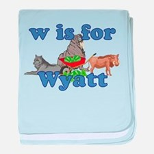 W is for Wyatt baby blanket