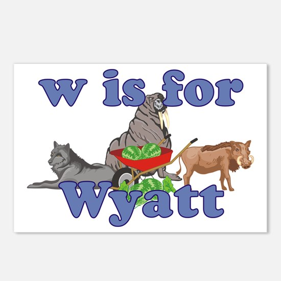 W is for Wyatt Postcards (Package of 8)