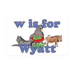 W is for Wyatt 38.5 x 24.5 Wall Peel