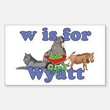 W is for Wyatt Decal