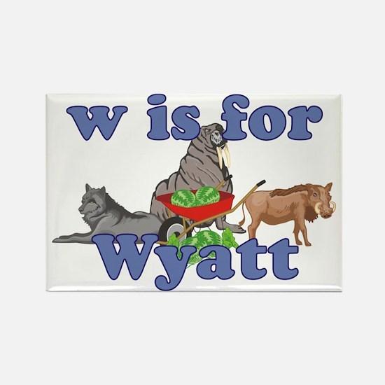 W is for Wyatt Rectangle Magnet
