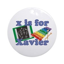 X is for Xavier Ornament (Round)