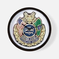 Border Patrol Honor Guard Wall Clock