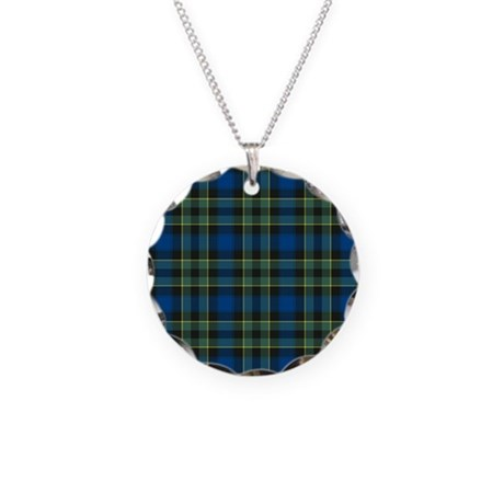 Tartan - Mowat Necklace Circle Charm