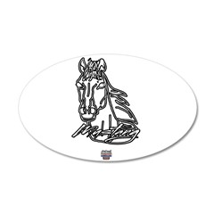 Mustang Horse 22x14 Oval Wall Peel
