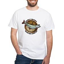 White Muskellunge Fishing T-Shirt