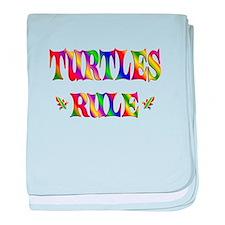 TURTLES RULE baby blanket