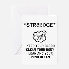 Funny Straight edge Greeting Card