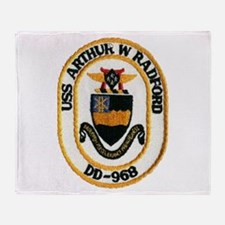 USS ARTHUR W. RADFORD Throw Blanket