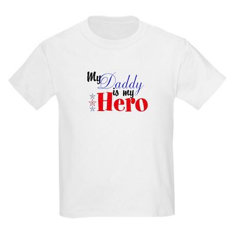 My Daddy is My Hero Kids Light T-Shirt