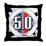 5.0 50 RWB Throw Pillow