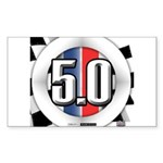 5.0 50 RWB Sticker (Rectangle 50 pk)
