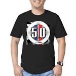5.0 50 RWB Men's Fitted T-Shirt (dark)