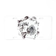 Smokin' Royal Flush Aluminum License Plate