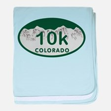 10K Colo License Plate baby blanket