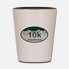 10K Colo License Plate Shot Glass