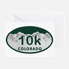 10K Colo License Plate Greeting Card