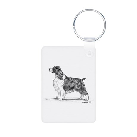 English Springer Spaniel Aluminum Photo Keychain