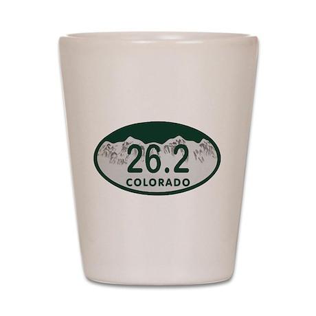 26.2 Colo License Plate Shot Glass