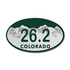 26.2 Colo License Plate Wall Decal