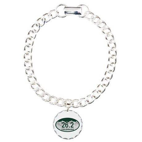 26.2 Colo License Plate Charm Bracelet, One Charm