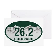 26.2 Colo License Plate Greeting Card
