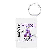I Wear Violet 43 Hodgkin's Lymphoma Aluminum Photo