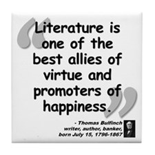 Bulfinch Happiness Quote Tile Coaster