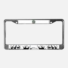 Buck moon License Plate Frame
