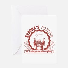 Buddha's Pizzeria Greeting Card
