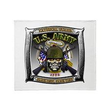 US Army National Guard Skull Framed Stadium Blank