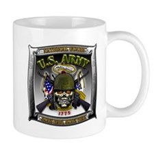 US Army National Guard Skull Framed Mug