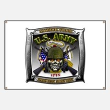 US Army National Guard Skull Framed Banner