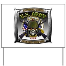 US Army National Guard Skull Framed Yard Sign