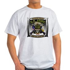 US Army National Guard Skull Framed T-Shirt