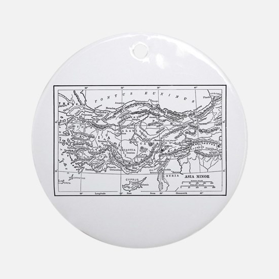 Asia Minor Map Ornament (Round)