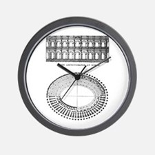 Nimes Amphitheater Wall Clock