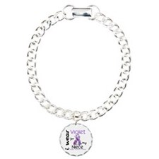 I Wear Violet 43 Hodgkin's Lymphoma Bracelet
