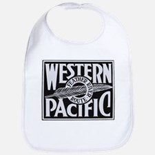 Western Pacific Feather railroad Baby Bib