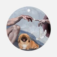 Creation of the Pekingese Ornament (Round)