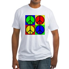Four Multicolored Peace Signs Shirt