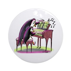 pEnGuIn pIaNiSt Ornament (Round)